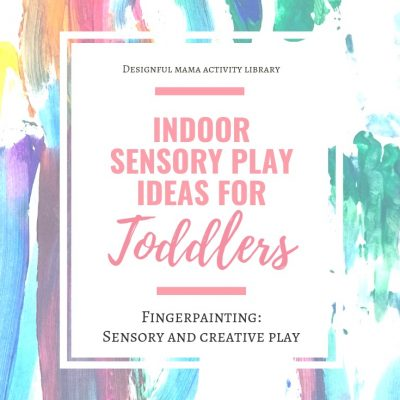 Sensory Play for Toddlers: Fingerpainting